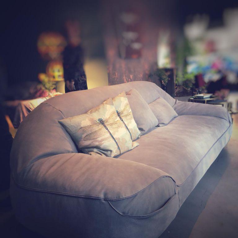 BRUNO sofa 4p - pelle no chrome